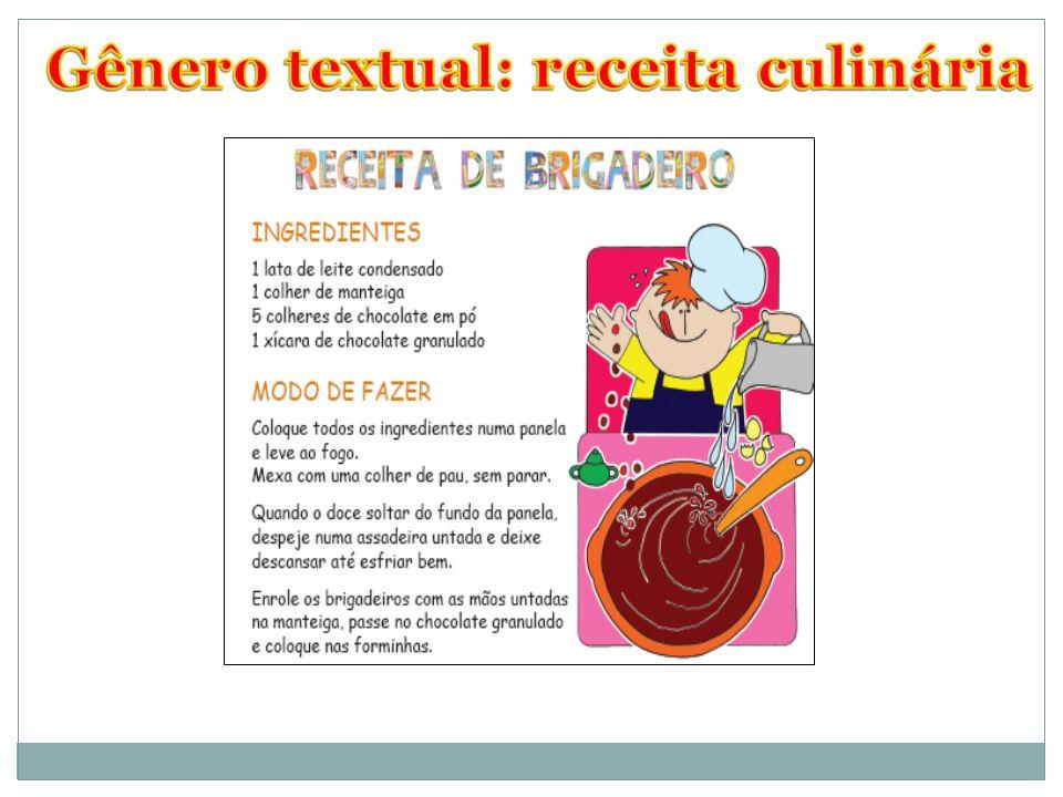 Gênero textual: receita culinária