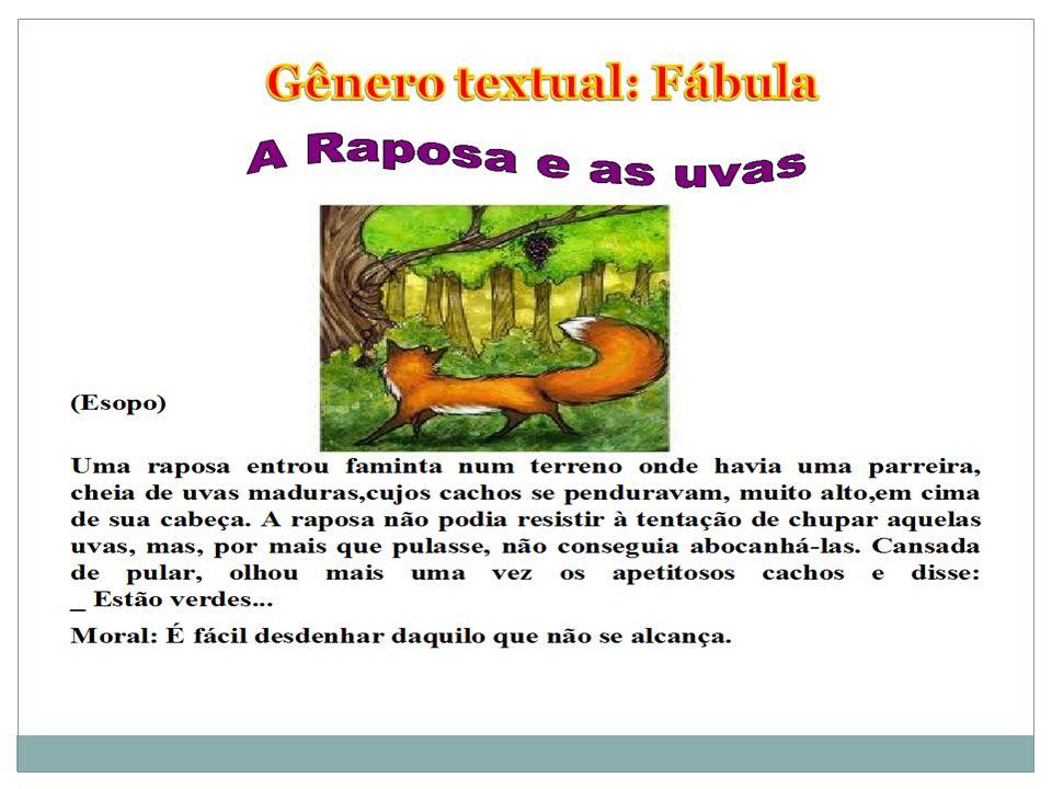 Gênero textual: Fábula