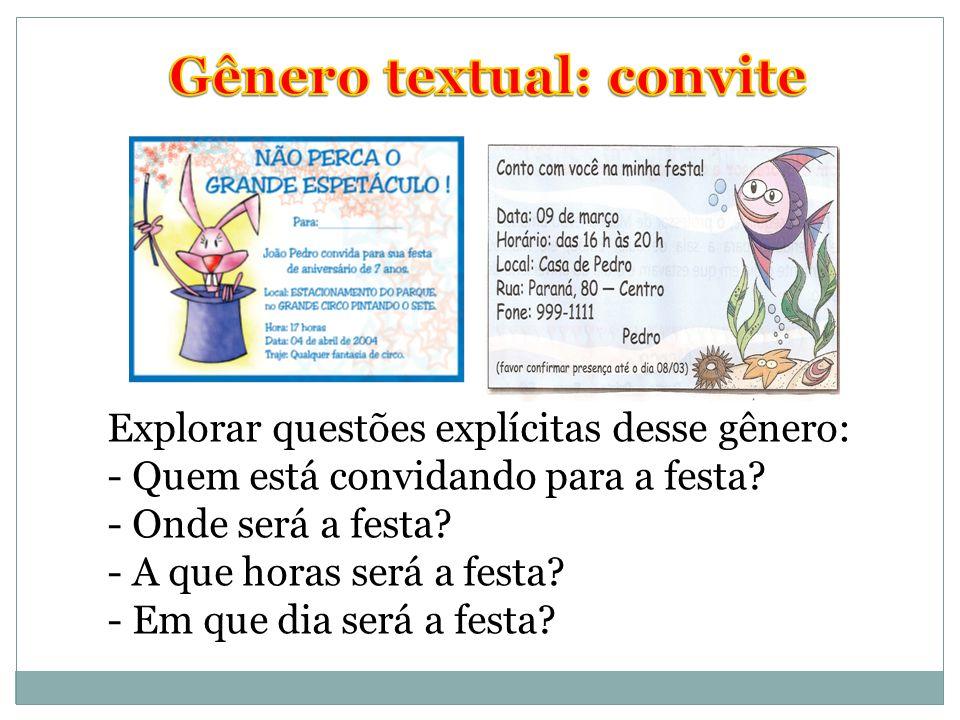 Gênero textual: convite