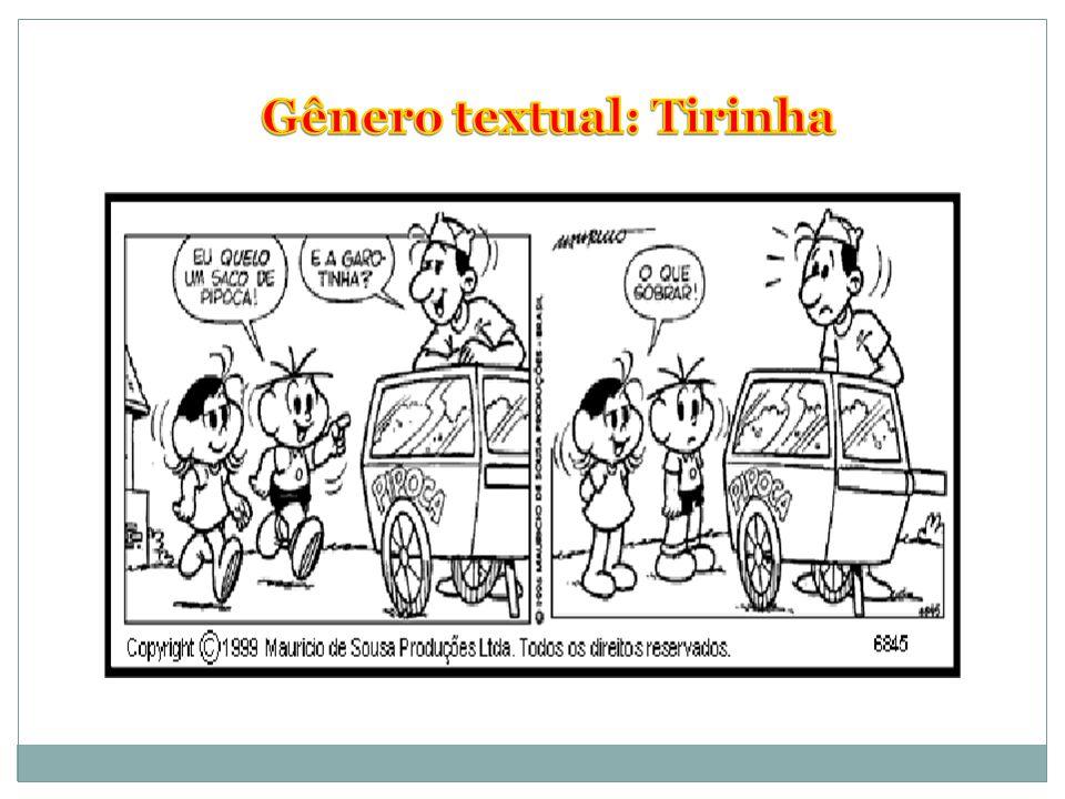 Gênero textual: Tirinha