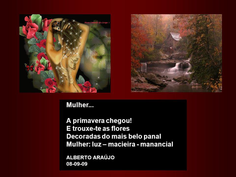 Decoradas do mais belo panal Mulher: luz – macieira - manancial