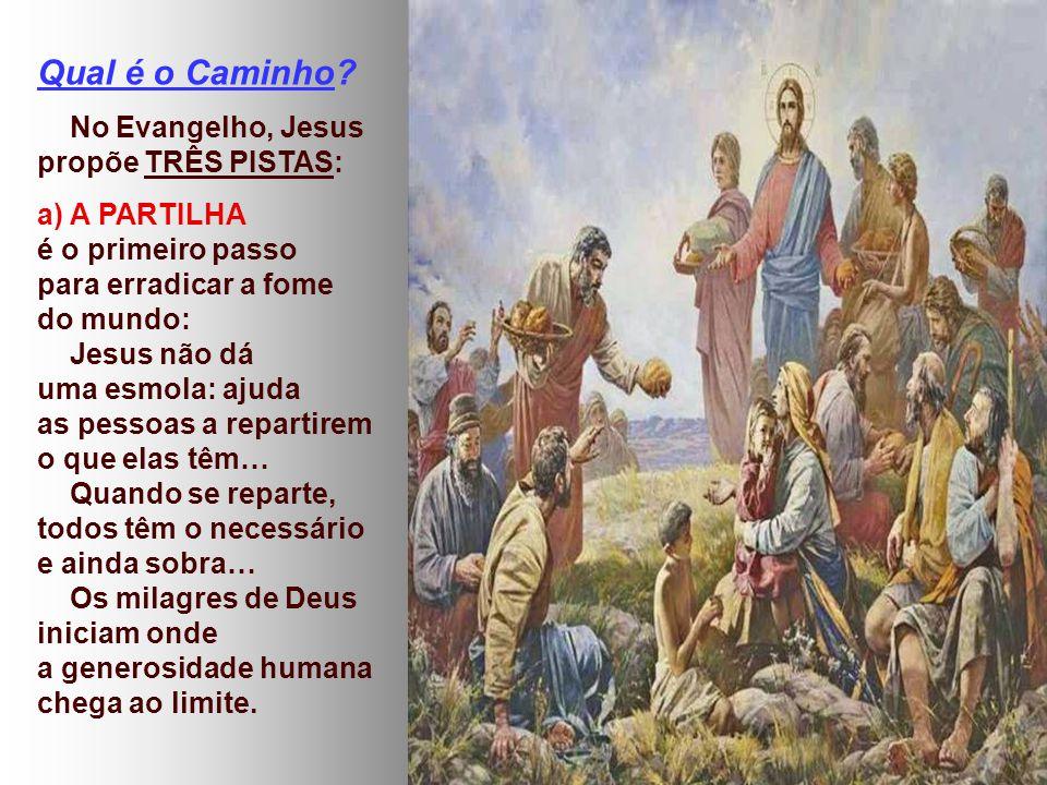 Qual é o Caminho No Evangelho, Jesus propõe TRÊS PISTAS:
