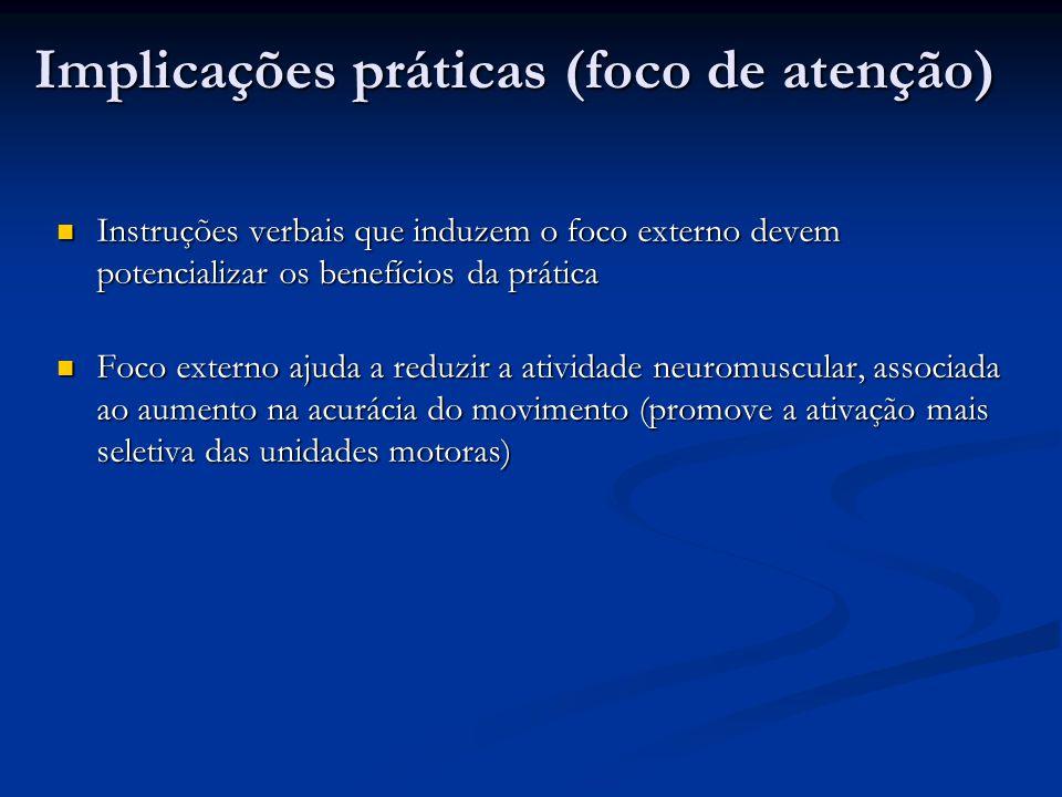 Implicações práticas (foco de atenção)