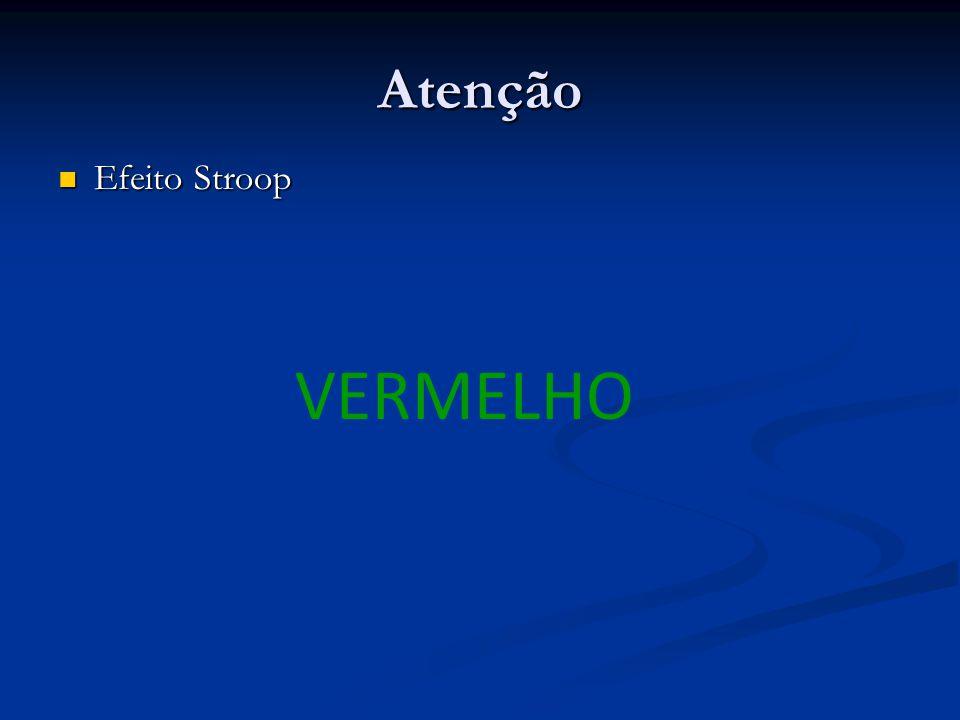 Atenção Efeito Stroop VERMELHO