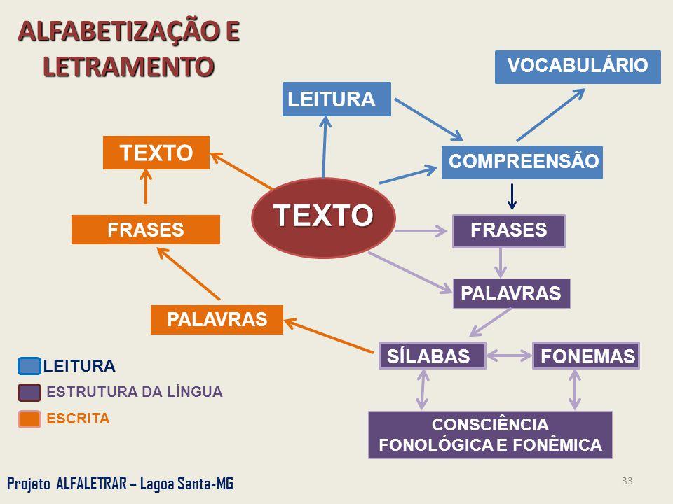 ALFABETIZAÇÃO E LETRAMENTO CONSCIÊNCIA FONOLÓGICA E FONÊMICA
