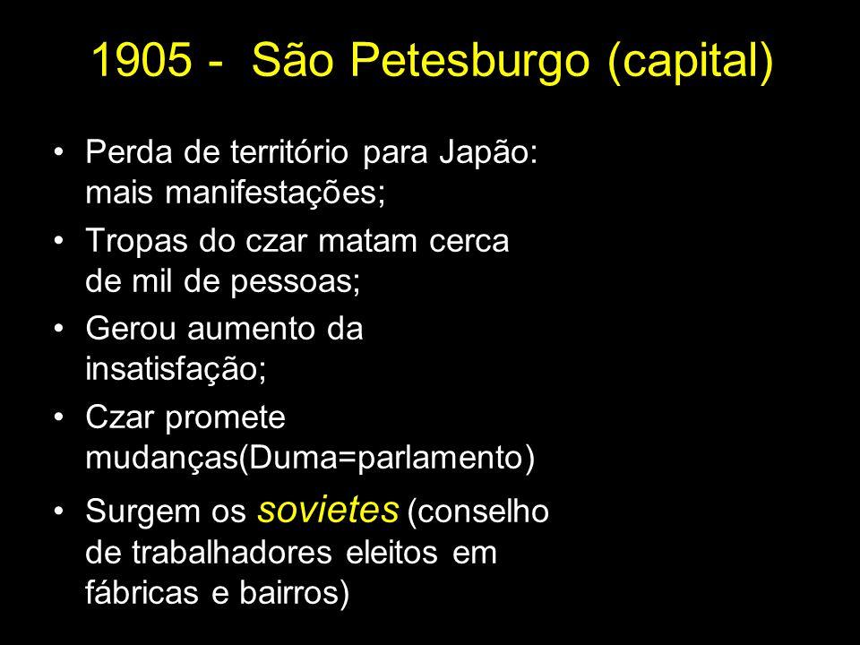 1905 - São Petesburgo (capital)