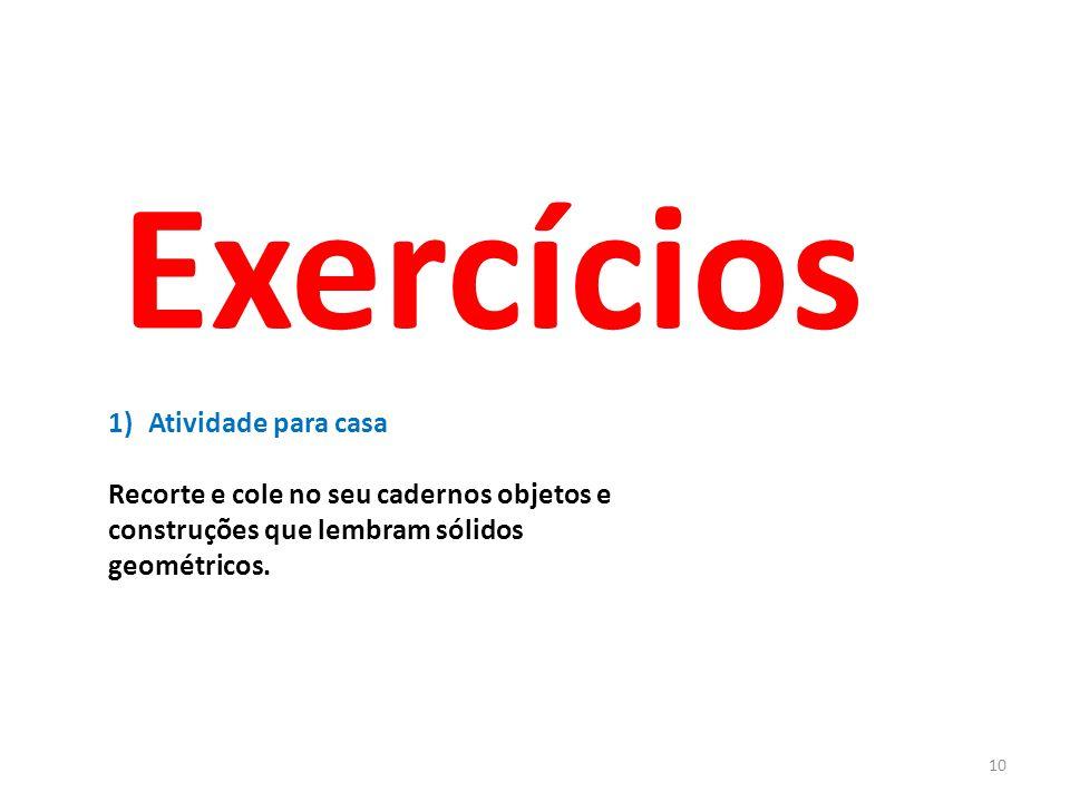 Exercícios Atividade para casa