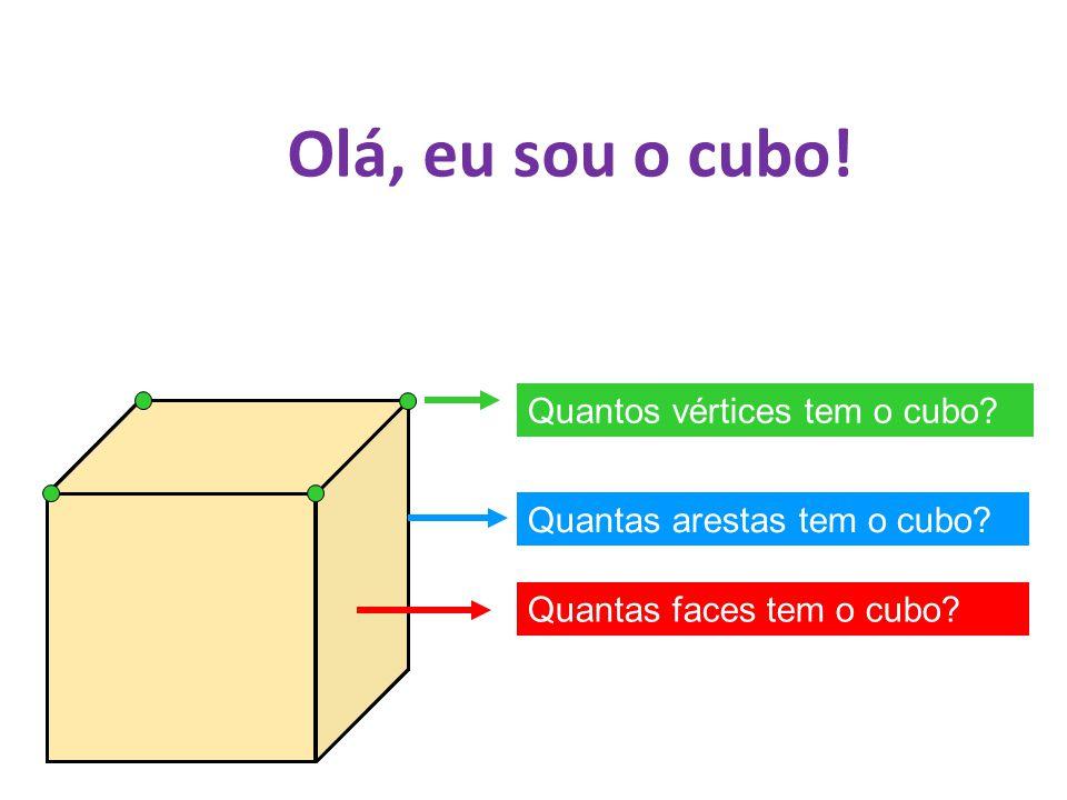 Olá, eu sou o cubo! Quantos vértices tem o cubo