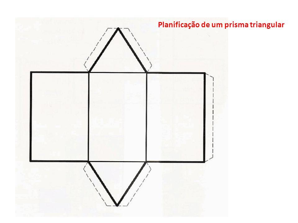 Planificação de um prisma triangular
