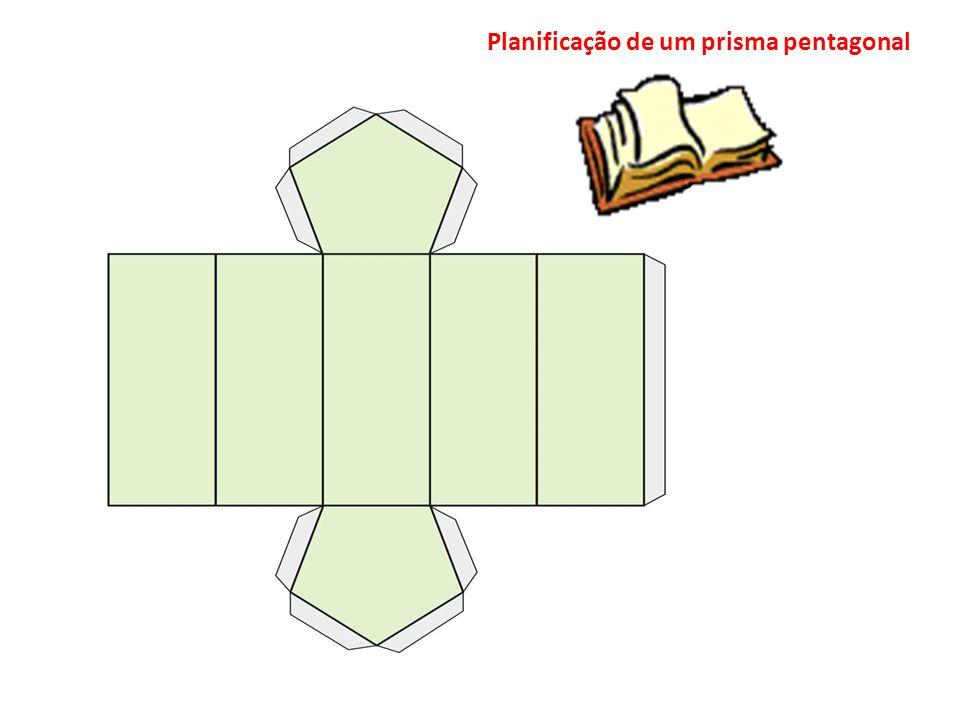 Planificação de um prisma pentagonal