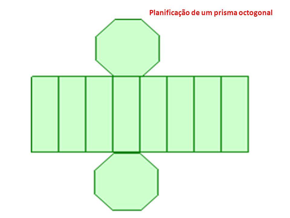 Planificação de um prisma octogonal