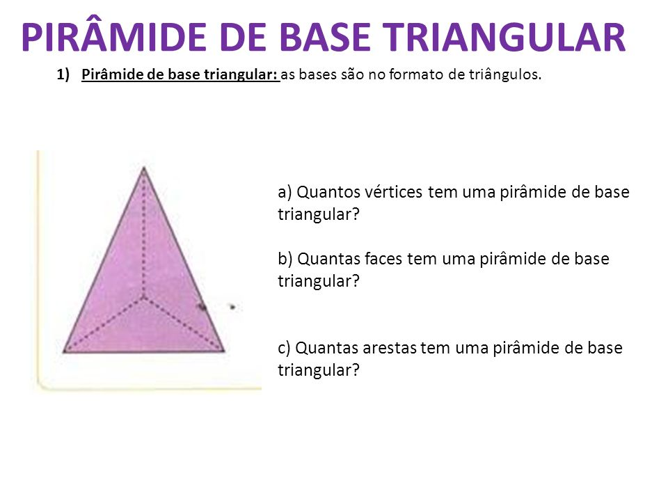 PIRÂMIDE DE BASE TRIANGULAR
