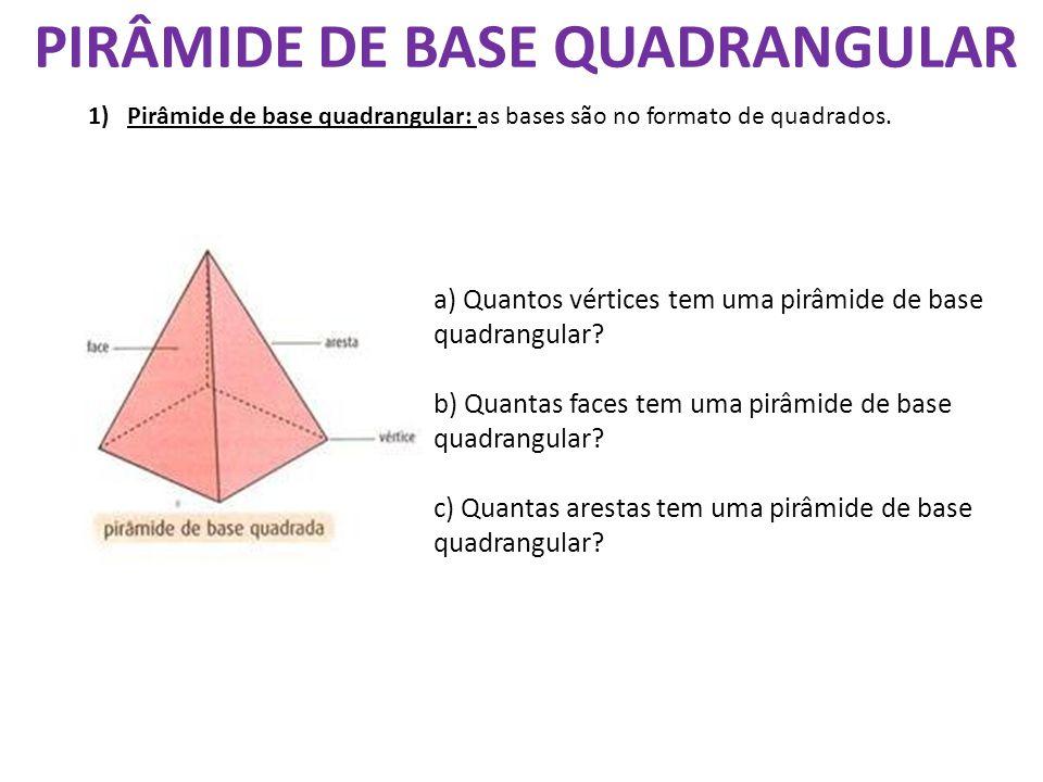 PIRÂMIDE DE BASE QUADRANGULAR