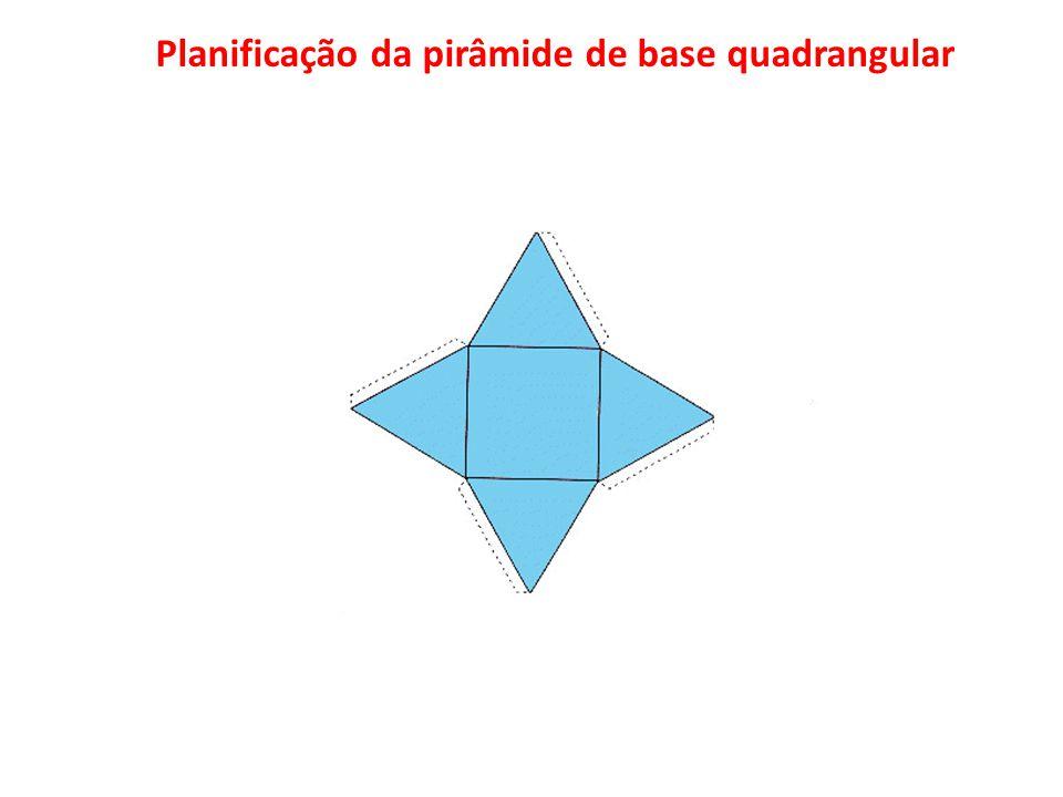 Planificação da pirâmide de base quadrangular