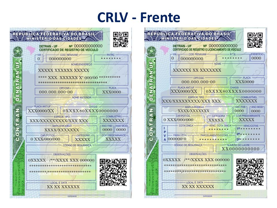 CRLV - Frente