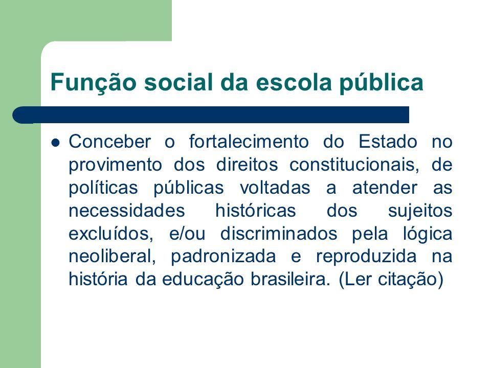 Função social da escola pública