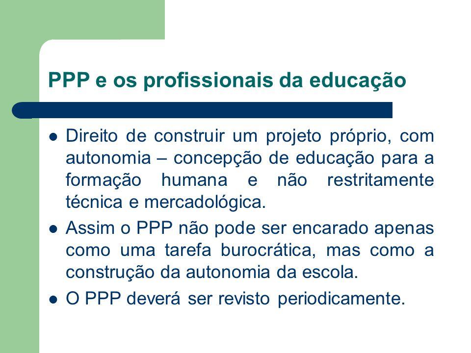 PPP e os profissionais da educação