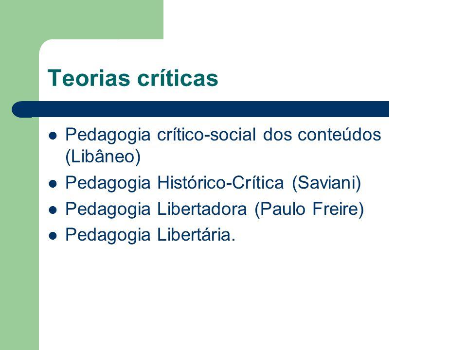 Teorias críticas Pedagogia crítico-social dos conteúdos (Libâneo)