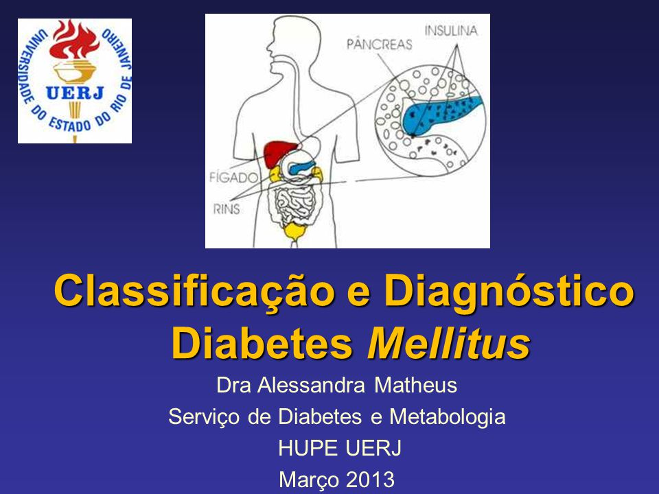 Classificação e Diagnóstico Diabetes Mellitus