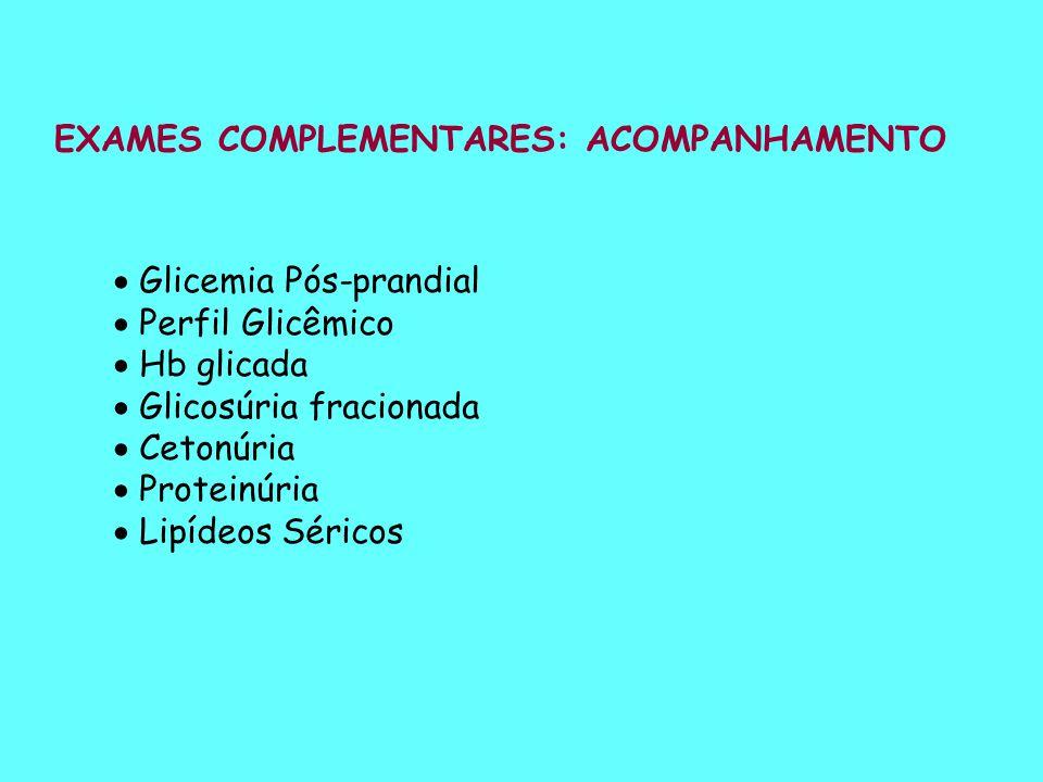 EXAMES COMPLEMENTARES: ACOMPANHAMENTO