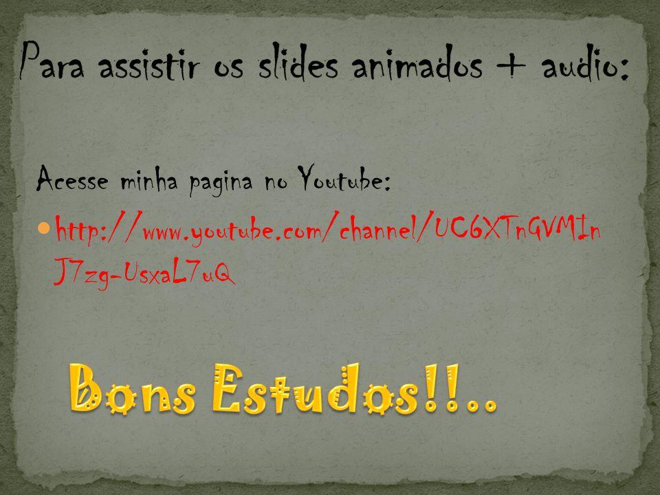 Para assistir os slides animados + audio: