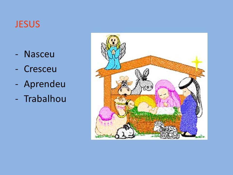 JESUS Nasceu Cresceu Aprendeu Trabalhou