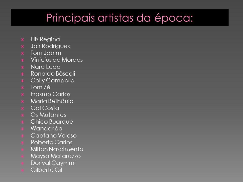Principais artistas da época: