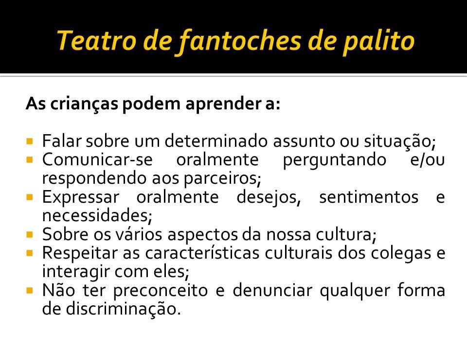 Teatro de fantoches de palito