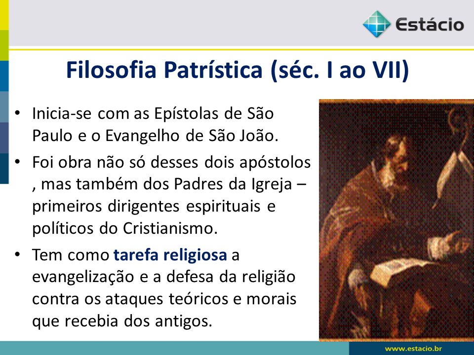 Filosofia Patrística (séc. I ao VII)