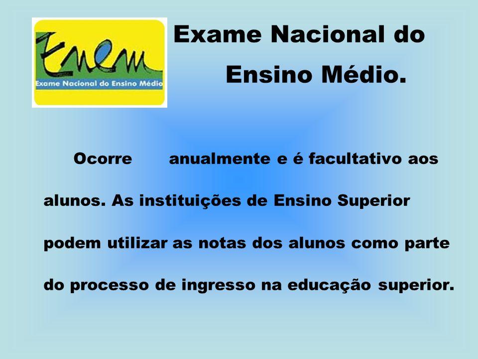 Exame Nacional do Ensino Médio.