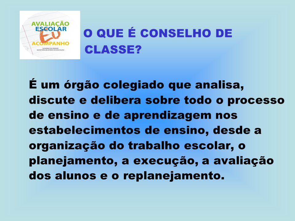 O QUE É CONSELHO DE CLASSE
