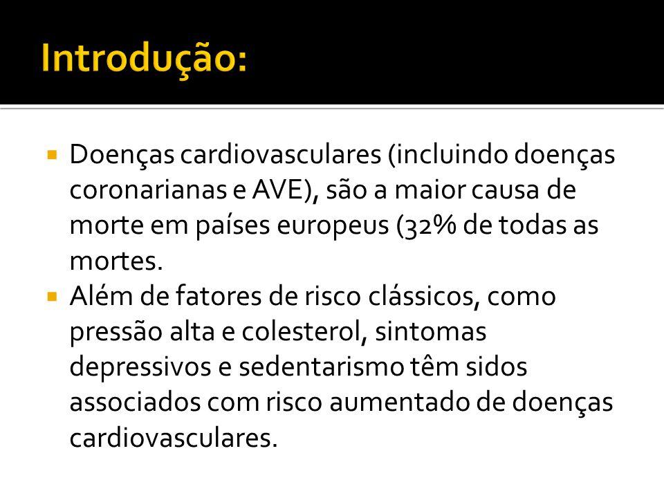 Introdução: Doenças cardiovasculares (incluindo doenças coronarianas e AVE), são a maior causa de morte em países europeus (32% de todas as mortes.