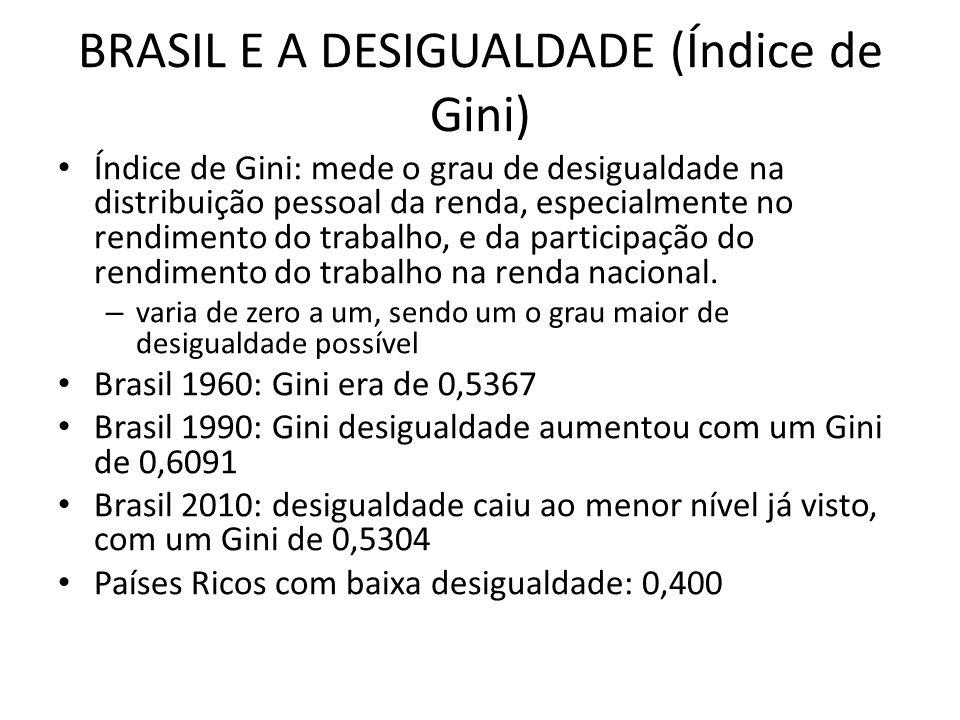 BRASIL E A DESIGUALDADE (Índice de Gini)