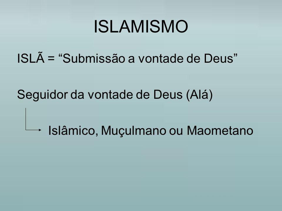 ISLAMISMO ISLÃ = Submissão a vontade de Deus