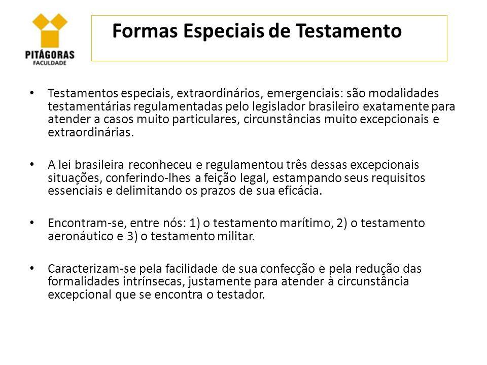 Formas Especiais de Testamento