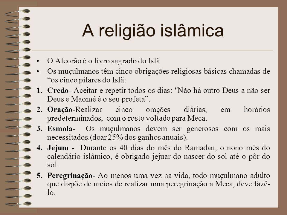 A religião islâmica O Alcorão é o livro sagrado do Islã
