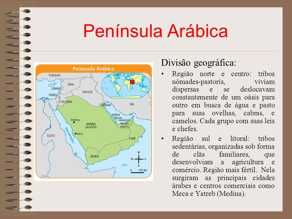 Península Arábica Divisão geográfica: