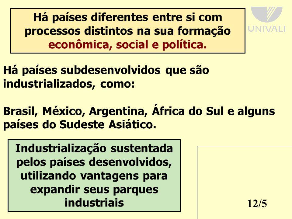 Há países diferentes entre si com processos distintos na sua formação econômica, social e política.