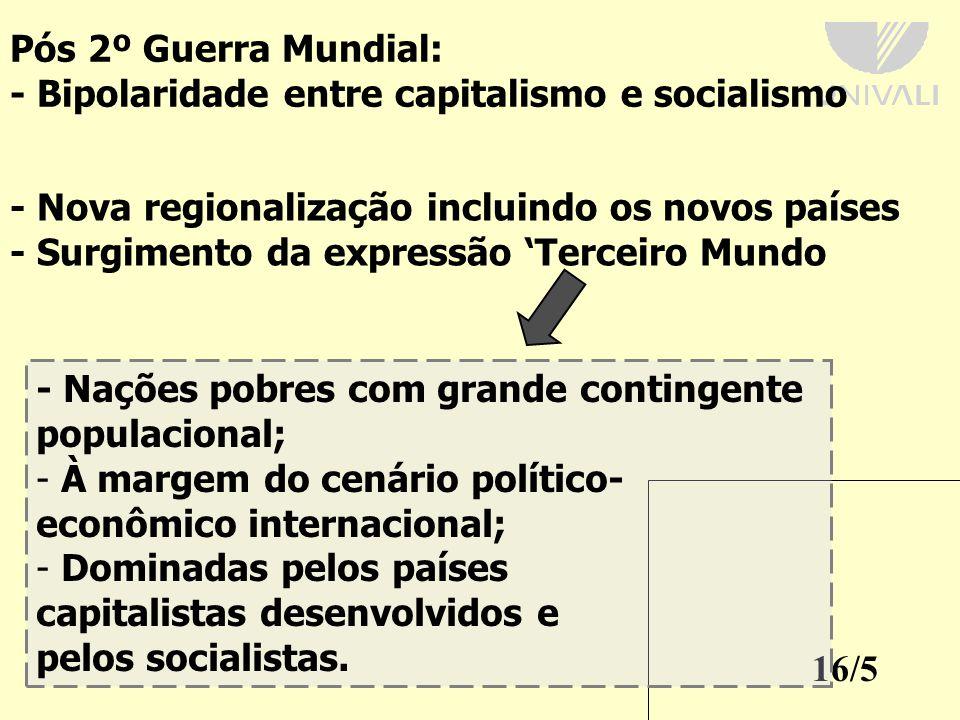 - Bipolaridade entre capitalismo e socialismo