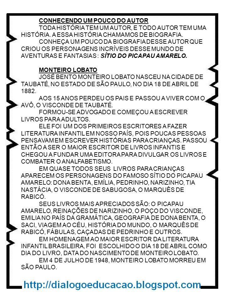 CONHECENDO UM POUCO DO AUTOR