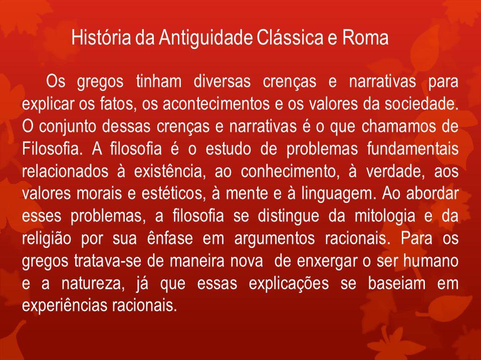 História da Antiguidade Clássica e Roma