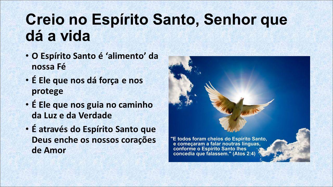 Creio no Espírito Santo, Senhor que dá a vida