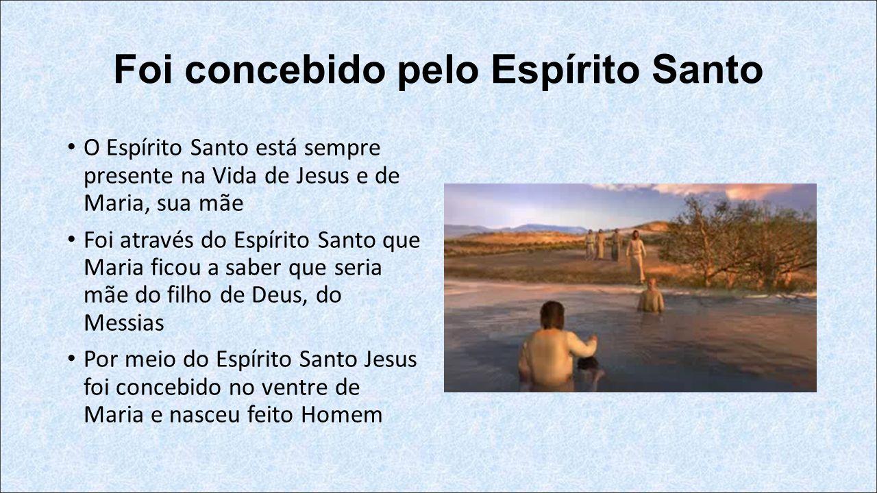 Foi concebido pelo Espírito Santo