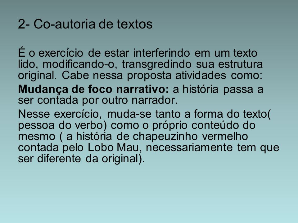 2- Co-autoria de textos