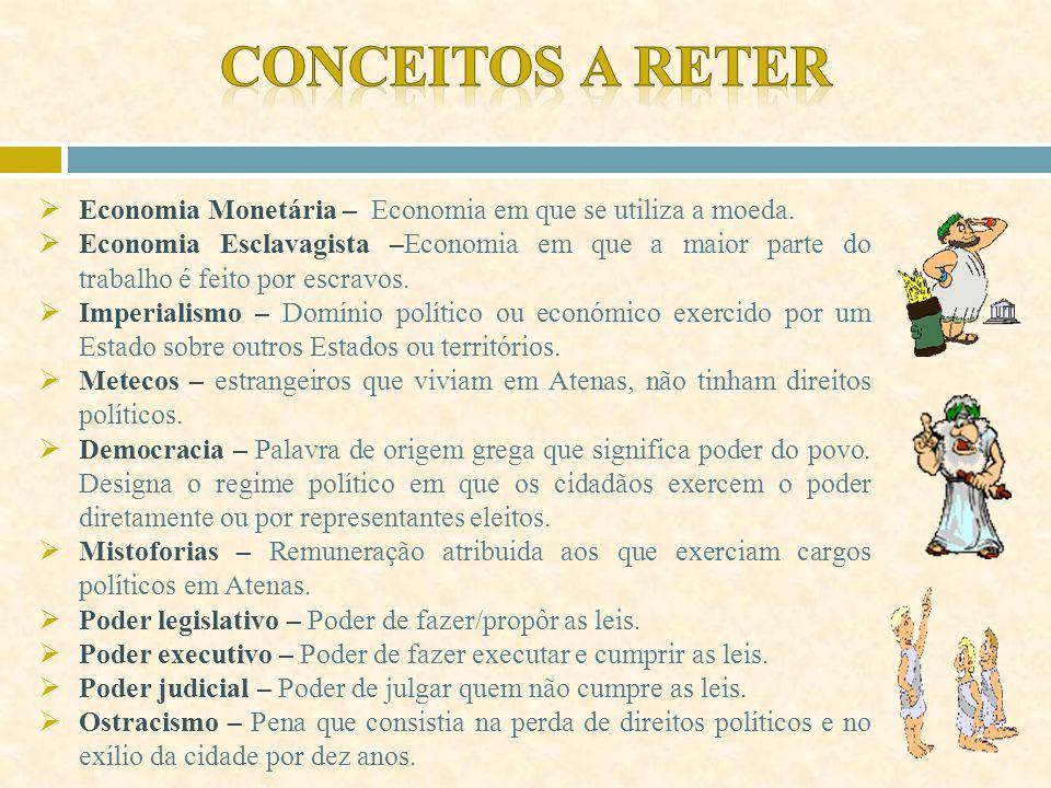 Conceitos a reter Economia Monetária – Economia em que se utiliza a moeda.
