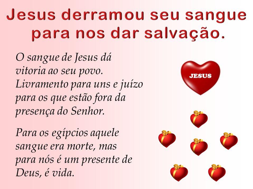 O sangue de Jesus dá vitoria ao seu povo