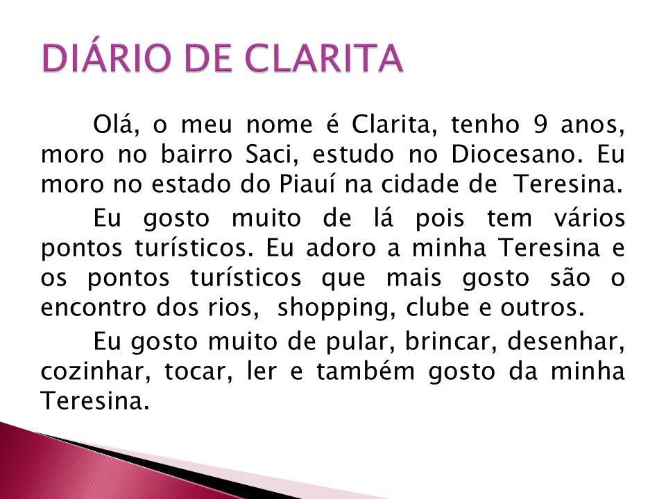 DIÁRIO DE CLARITA