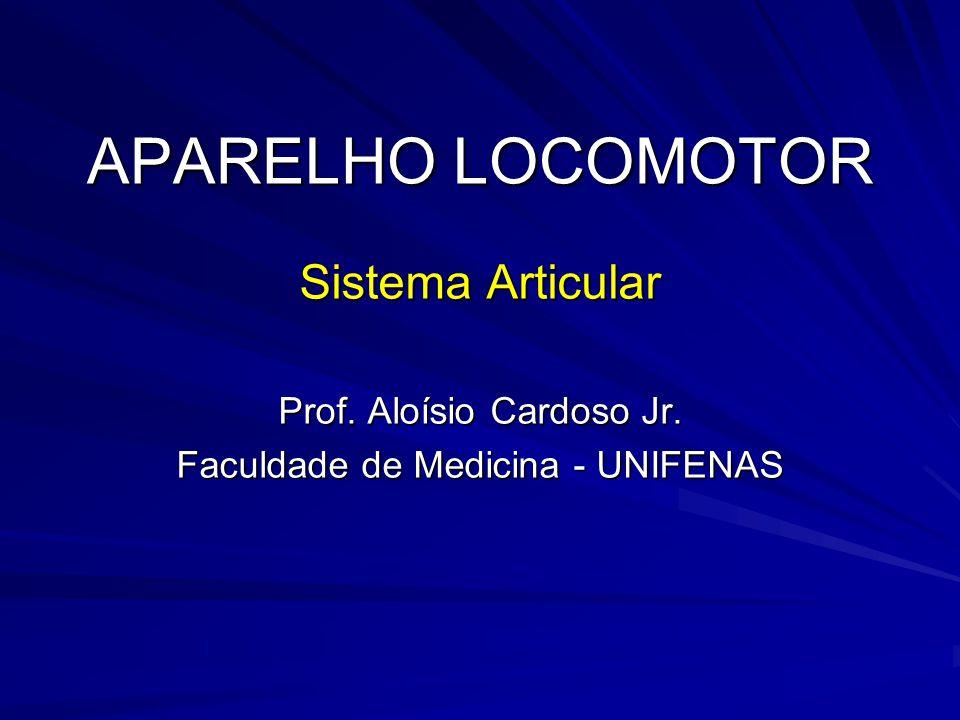 APARELHO LOCOMOTOR Sistema Articular Prof. Aloísio Cardoso Jr.