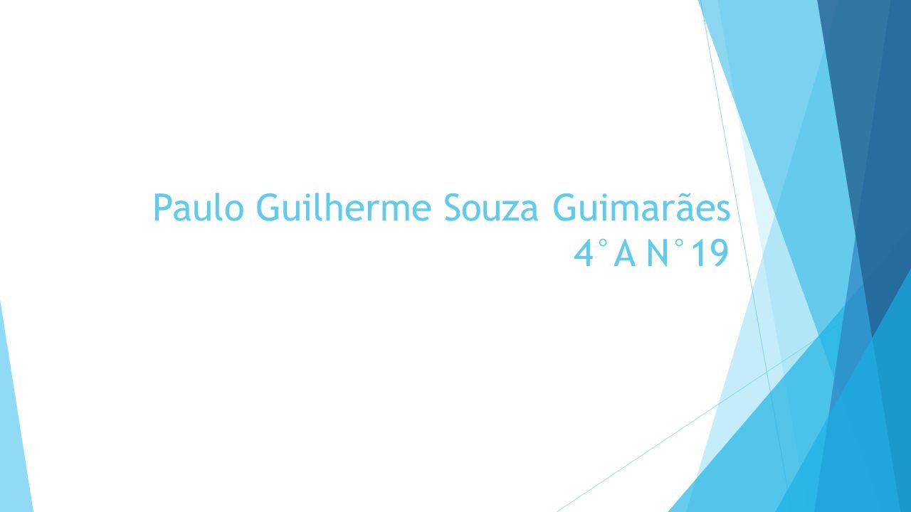 Paulo Guilherme Souza Guimarães 4°A N°19