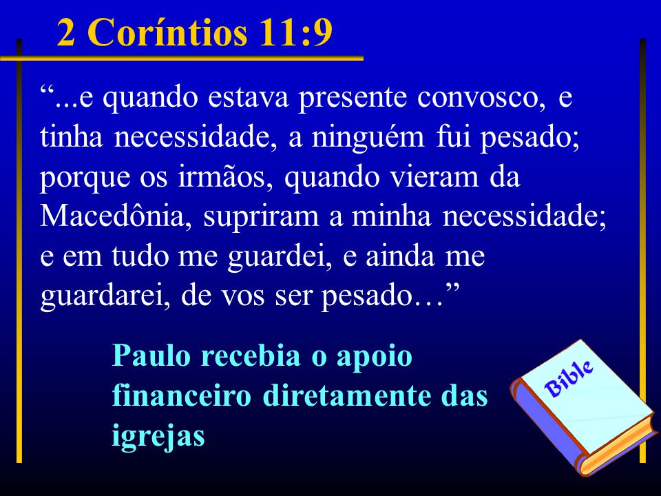 2 Coríntios 11:9